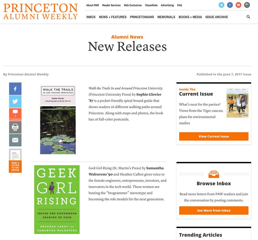 Princeton Alumni Weekly New Releases