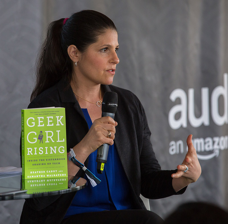Heather speaking at Audible